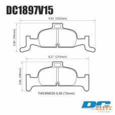 Колодки тормозные DC1897V16 DC brakes Street STR.S, перед  A4 B9; A5 F53; Q5 FYB; суппорт ATE;