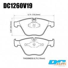 Колодки тормозные DC1260V19 DC brakes Street STR.S; передние BMW E90,91,92, 335i, M3 E90, E60, E63