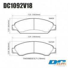 Колодки тормозные DC1092V18 DC brakes Street HD передние CADILLAC Escalade / Chevrolet Tahoe