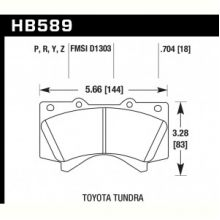 Колодки тормозные HB589Y.704 HAWK LTS передние  LEXUS LX570, LX450D, TOYOTA LC200 Tundra, SEQUOIA