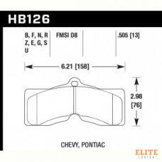 Колодки тормозные HB126N.505 HAWK HP Plus