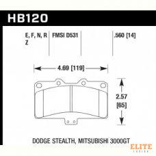 Колодки тормозные HB120N.560 HAWK HP Plus