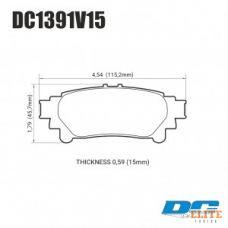Колодки тормозные DC1391V15 DC brakes Street STR.S, задн. Lexus RX350 2013-> ; HIGHLANDER 2013->