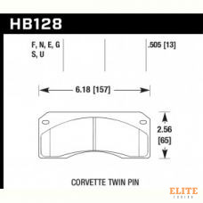 Колодки тормозные HB128N.505 HAWK HP Plus; 13mm