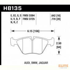 Колодки тормозные HB135N.770 HAWK HP+ передние BMW 5 (E34) / 7 (E32) / M3 3.0 E36