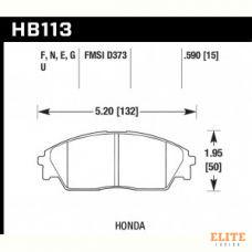 Колодки тормозные HB113N.590 HAWK HP Plus