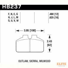 Колодки тормозные HB237F.625 HAWK HPS