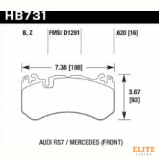 Колодки тормозные HB731B.620 HAWK Street 5.0 MB ML 63AMG, GL 63 AMG W166; AUDI RS6 MK3 4F; RS7 4GA,