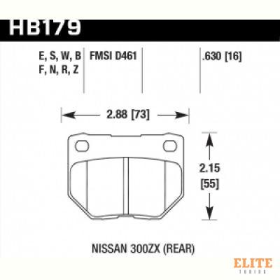 Колодки тормозные HB179R.630 HAWK Street Race задние SUBARU Impreza WRX