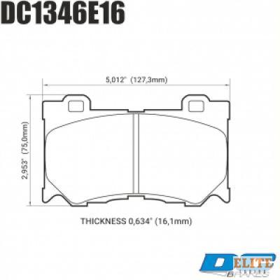 Колодки тормозные DC1346E16 DC Brakes RT.2 передние INFINITI FX50/FX37/G37/ Nissan 370Z