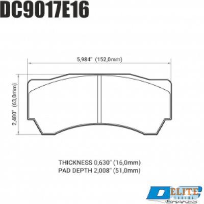 Колодки тормозные DC9017E16 DC Brakes RT.2 Alcon Monoblock 6 CAR97