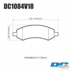 Колодки тормозные DC1084V18 DC brakes Street HD, перед DODGE RAM 1500, DURANGO
