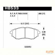 Колодки тормозные HB533N.668 HAWK HP Plus