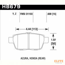 Колодки тормозные HB679Y.600 HAWK LTS задн  Honda Ridgeline ; Acura TL 2009-2013