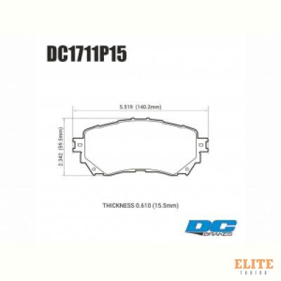 Колодки тормозные DC1711P15 DC brakes STREET STR.S+, перед Mazda 6 GJ 2012->
