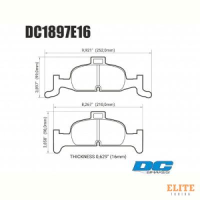 Колодки тормозные DC1897E15 DC brakes RT.2, перед  A4 B9; A5 F53; Q5 FYB; суппорт ATE;