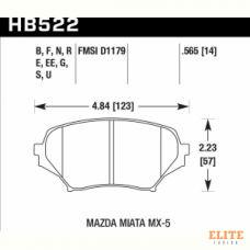 Колодки тормозные HB522N.565 HAWK HP+ передние MAZDA MX-5