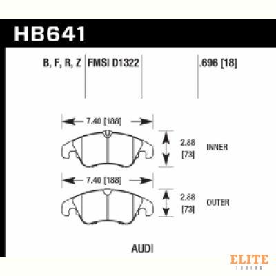 Колодки тормозные HB641N.696 HAWK HP Plus Audi A5, A4 (1LA), Q5