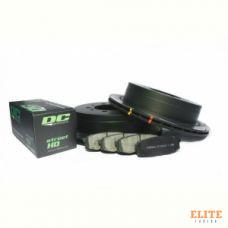 КОМПЛЕКТ ЗАДНИЙ:Тормозные диски DBA 42723S T3+колодки DC brakes sHD Toyota  LC 200, Lexus LX570,450D