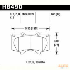 Колодки тормозные HB490Y.665 HAWK LTS передние LEXUS GX460 / GX470;  Prado 150/120; PAJERO / HILUX