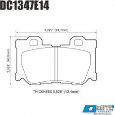 Колодки тормозные DC1347E14 DC Brakes RT.2 задние INFINITI  FX37 / FX50 / G / M / Nissan 370Z