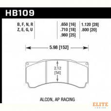 Колодки тормозные HB109N.710 HAWK HP Plus; 18mm