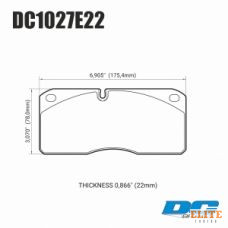 Колодки тормозные DC1027E22 DC brakes RT.2 перед. система STOPTECH HD TOYOTA LC200 / LX570