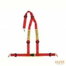 """Ремень безопасности SABELT, тюнинг, 3-х точечный, 2"""", крючки+болты, красный, омологация ECE. 904005N"""