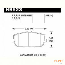 Колодки тормозные HB523F.539 HAWK HPS