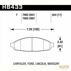 Колодки тормозные HB433F.654 HAWK HPS
