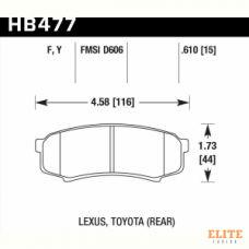 Колодки тормозные HB477Y.610 HAWK LTS задние LEXUS GX460, GX470; TOYOTA PRADO 150/120