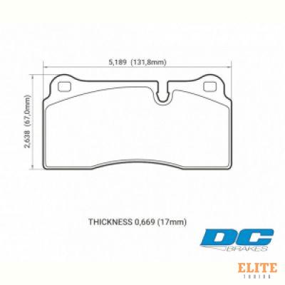 Колодки тормозные DC0968V17 DC brakes STREET STR.S, Brembo тип B, H, P / Rotora FC4 / Nissan GTR R35