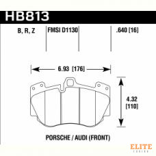 Колодки тормозные HB813B.640 HAWK HPS 5.0 Porsche Cayenne Turbo 9PA 2007-2010 передние
