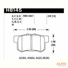 Колодки тормозные HB145F.570 HAWK HPS HONDA / SUZUKI Swift III