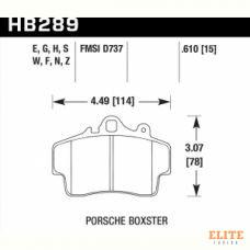 Колодки тормозные HB289F.610 HAWK HPS