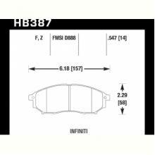Колодки тормозные HB387F.547 HAWK HPS передние INFINITI FX / G /  M  (USA)