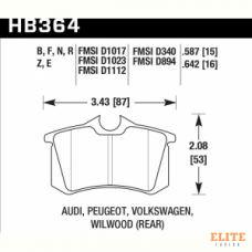 Колодки тормозные HB364N.587 HAWK HP Plus Audi A3, A4, A6, A8, S3, S4, S6, S8 & TT - Rear