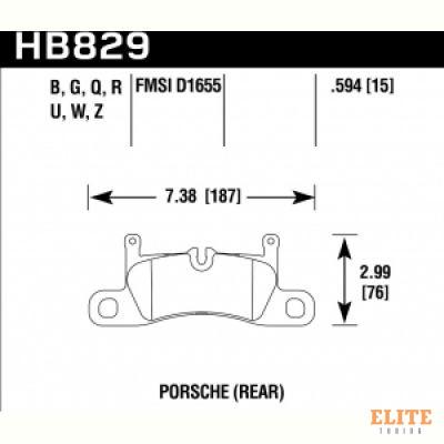 Колодки тормозные HB829N.594 Porsche 911; Cayenne; Boxter задние