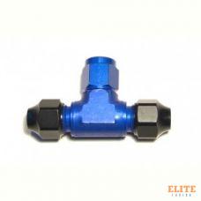 Фитинг AN-06, тройник, трубка-фитинг-трубка, Hardline, алюминий, Goodridge HL854-06D
