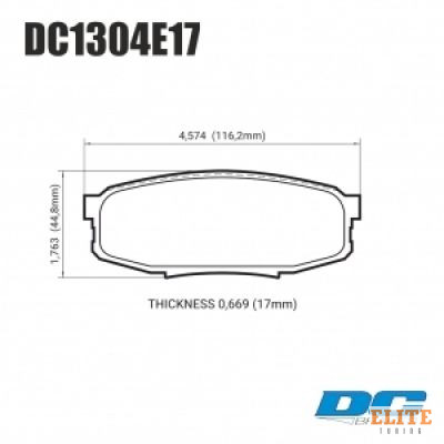 Колодки тормозные DC1304E17 DC Brakes RT.2 задние LEXUS LX570, LX450D, TOYOTA LC200 Tundra