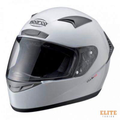 Шлем закрытый SPARCO Club X-1 белый, размер XS, 0033190XS
