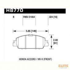 Колодки тормозные HB770B.624 HAWK HPS 5.0; Honda Accord 9 CR; HR-V