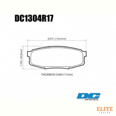 Колодки тормозные DC1304R17 DC brakes Street HD+, задние LEXUS LX570, LX450D, TOYOTA LC200 Tundra