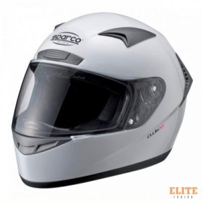 Шлем закрытый SPARCO Club X-1 белый, размер M, 0033192M