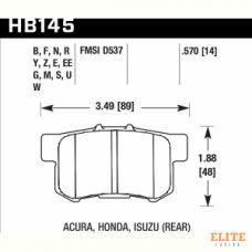 Колодки тормозные HB145N.570 HAWK HP Plus