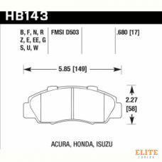 Колодки тормозные HB143N.680 HAWK HP+ передние HONDA