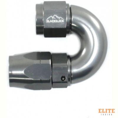 - 6 AN (6AN AN6) фитинг 180°, Full Flow серия BLACKROCK LAB A06-180-3Ti