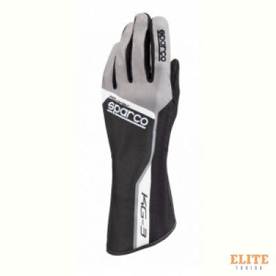 Перчатки для автоспорта SPARCO TRACK KG-3, черный, размер 11, 00255311NR