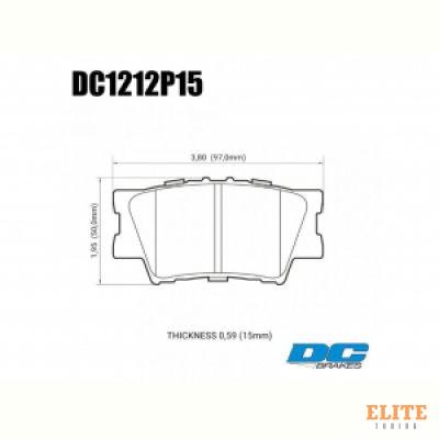 Колодки тормозные DC1212P15 DC brakes Street STR.S+, задние TOYOTA CAMRY 2007-> / RAV 4 2005->