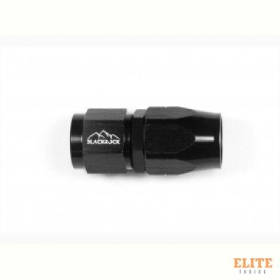 - 6 AN (6AN AN6) фитинг прямой, 20 серия Cutter Style, BLACKROCK LAB ЧЁРНЫЙ, A06-001-2BK